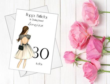 Handmade Birthday Card (Lace Dress)
