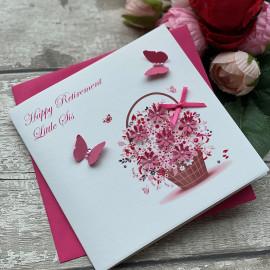 Handmade Retirement Card 'Floral Basket'