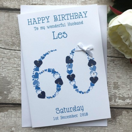 Handmade Birthday Card 'Heart Numbers'