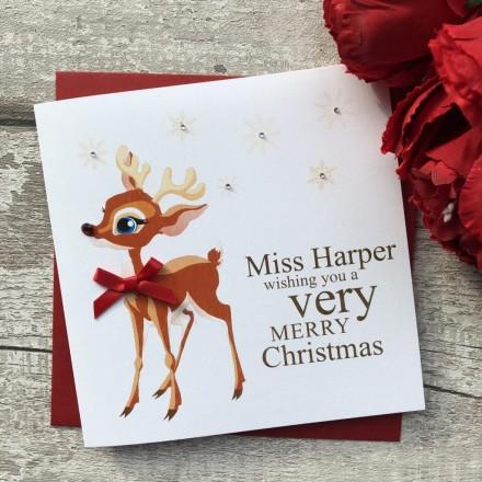 Christmas Cards For Teachers.Handmade Christmas Card Teacher
