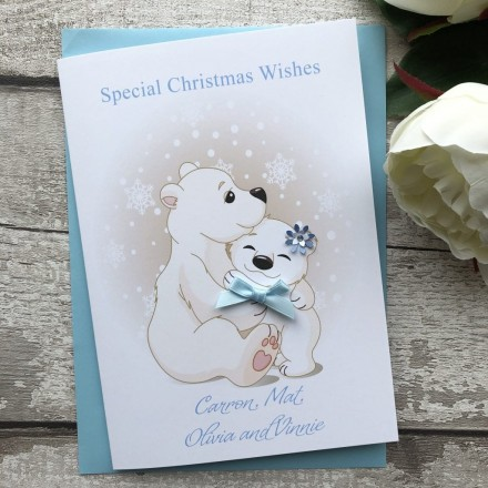 Handade Christmas Card 'Polar Bears'