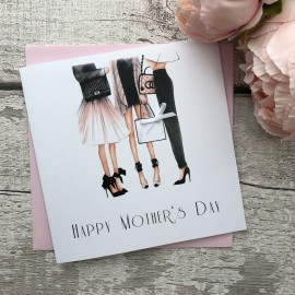 Handmade Mother's Day Card 'Ladies'