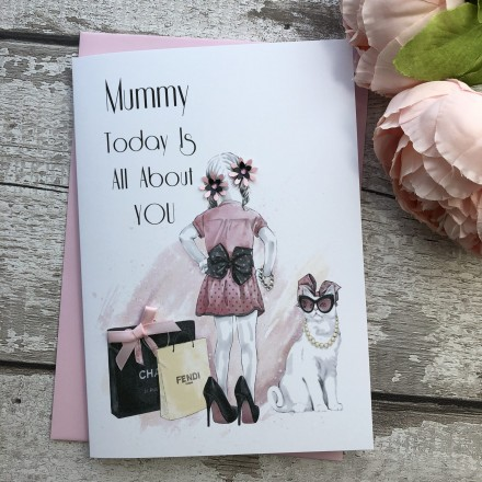 Handmade Mother's Day Card (Dress Up)