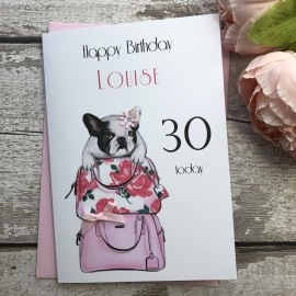 Handmade Birthday Card 'Bull Dog'