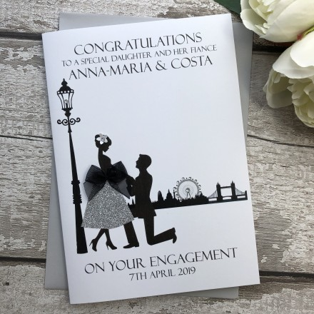"Handmade Personalised Engagement Card ""Proposal"""