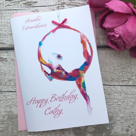 Handmade Birthday Card 'Aerial Hoop'