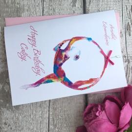 Handmade Birthday Card 'Aerial Hoop'